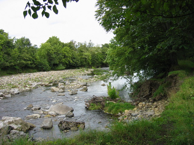 River Wear between Frosterley and Wolsingham - geograph.org.uk - 234577