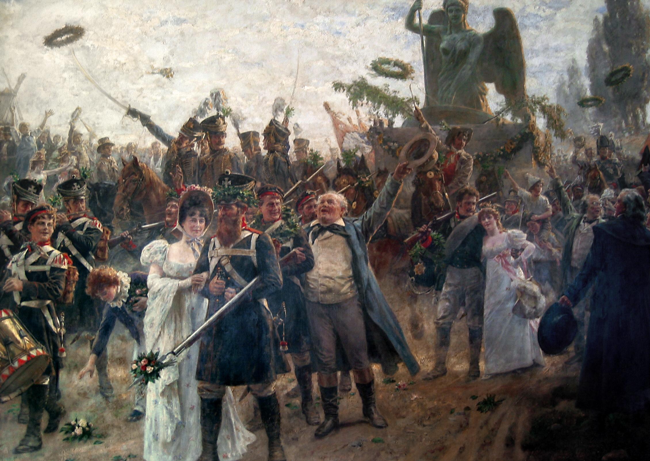 Die Rückkehr der Quadriga des Brandenburger Tores 1814
