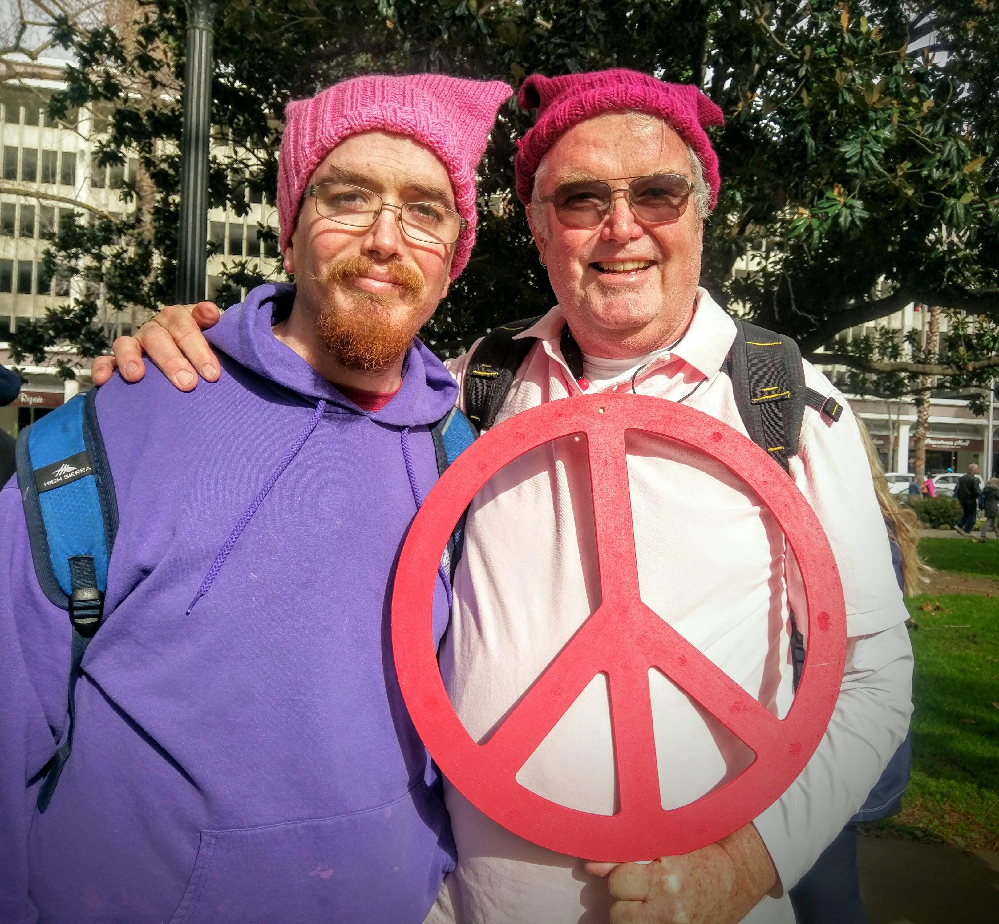 f83337e7917 File Sacramento Women s March men wearing pussyhats .jpg. From Wikimedia  Commons ...