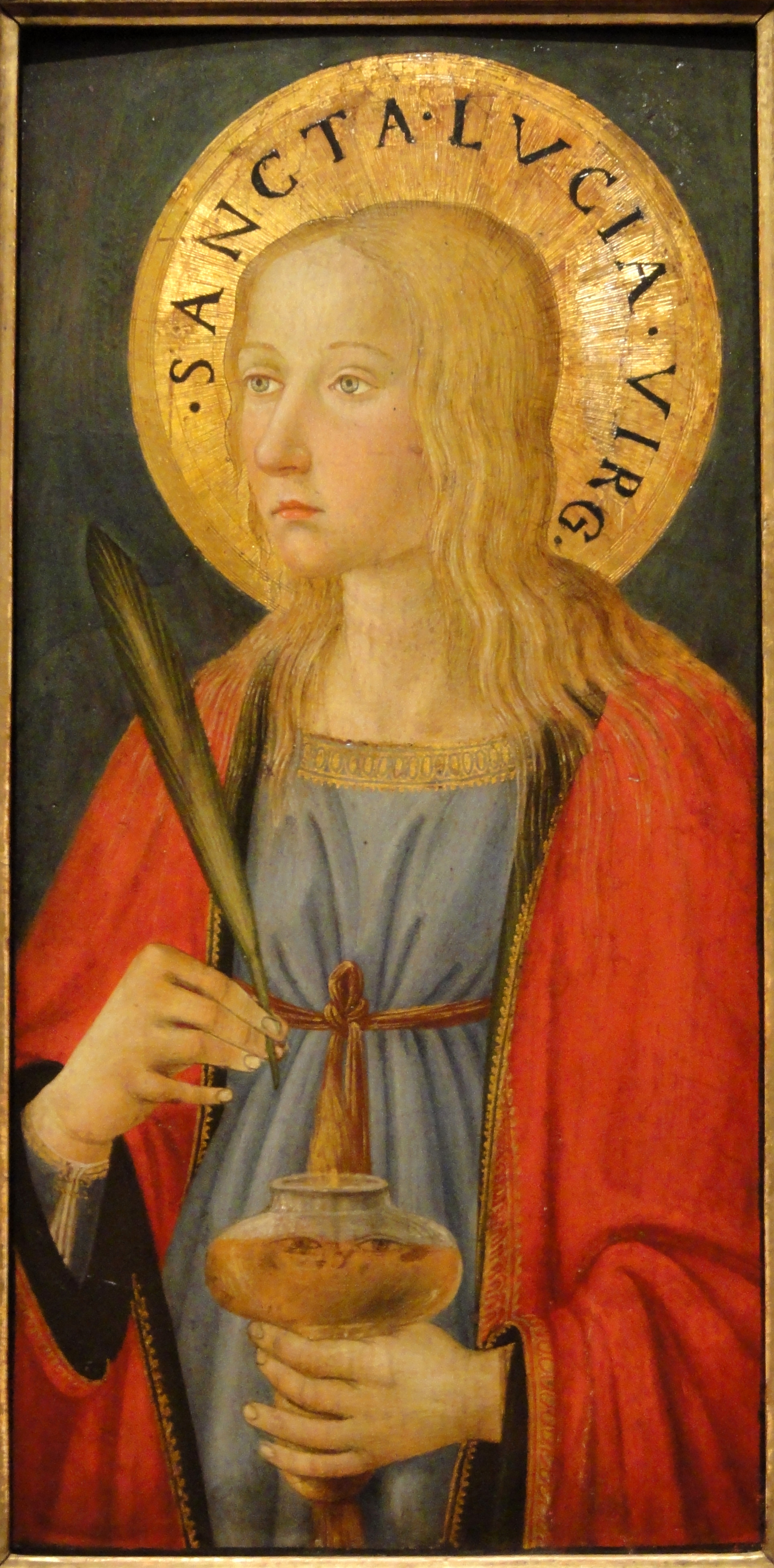 Saint Lucy by Cosimo Rosselli, Florence, c. 1470, tempera