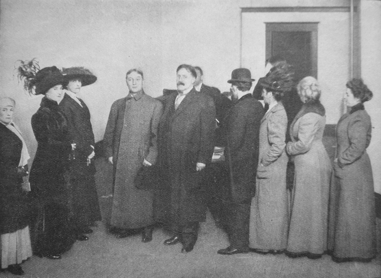 File Seattle C 1910 Women Registering To Vote Jpg