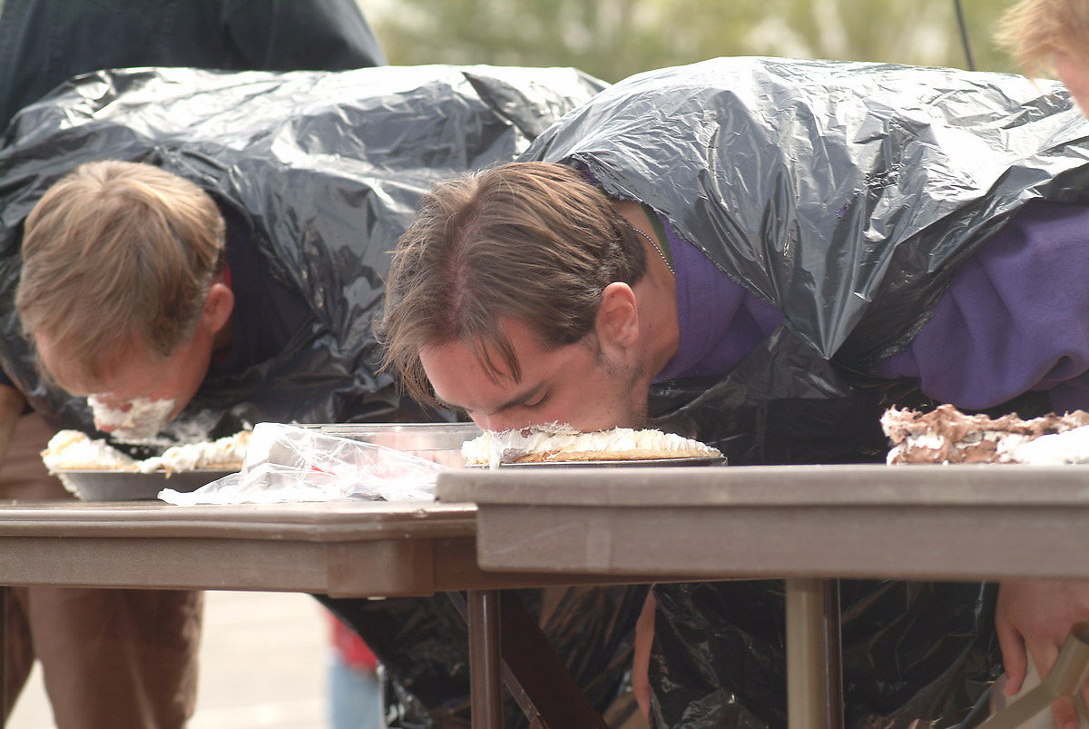 Pie-eating contest, Seattle, Washington, 2003.