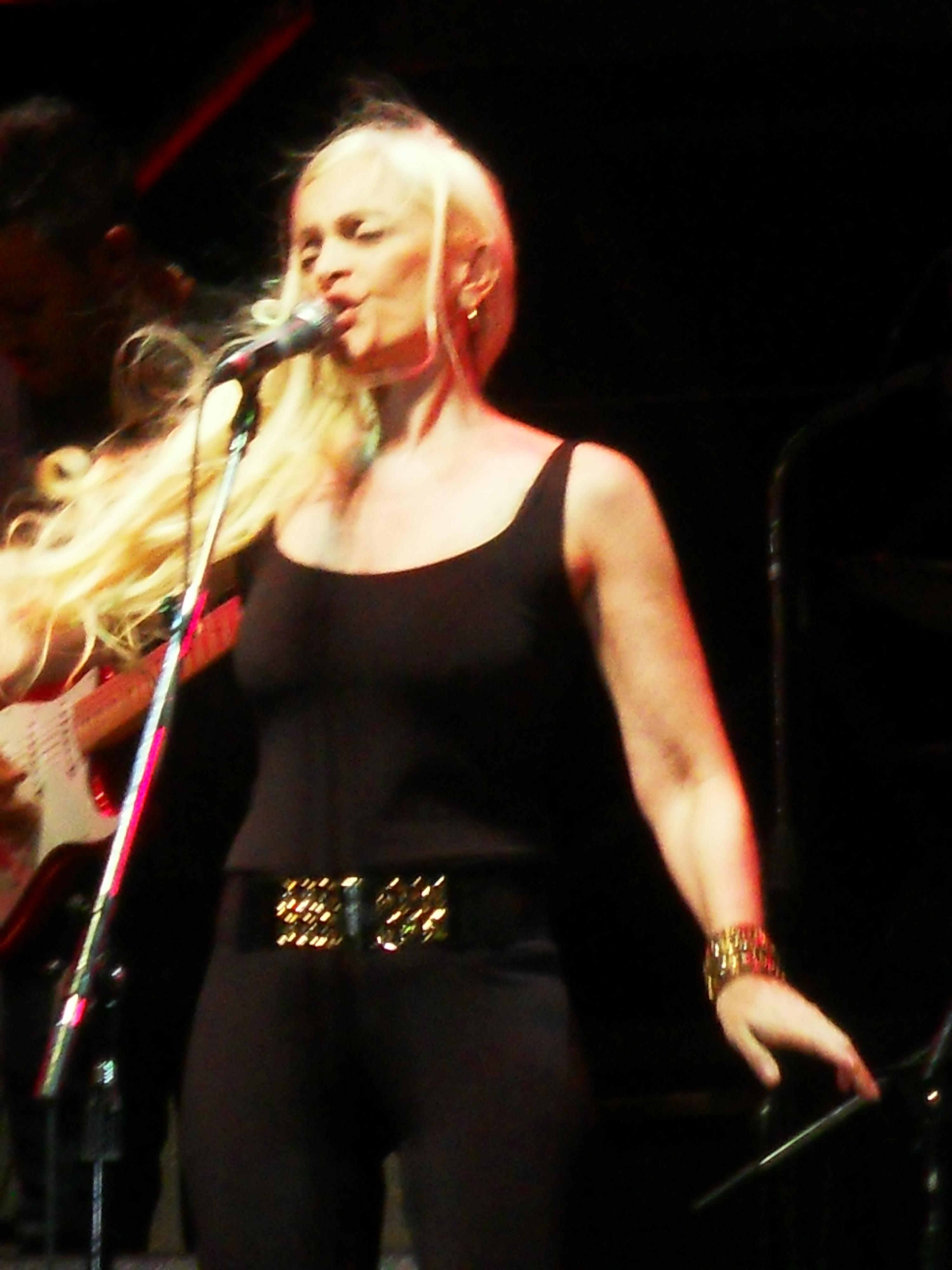Silvina Garré en un concierto en Mendoza (15/12/2013).