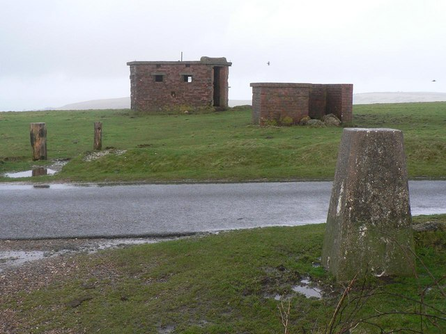 St. Boniface Down, trig point and military remnants - geograph.org.uk - 679265