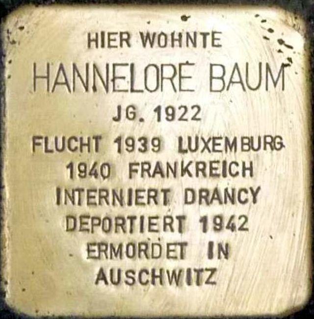 Stolperstein Alzey Hannelore Baum.jpg
