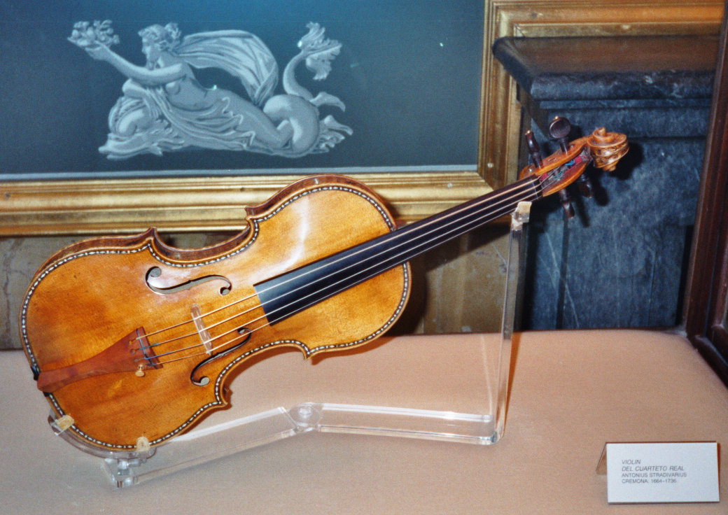 photograph of a Stradivarius violin