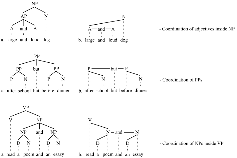Trees illustrating coorondination