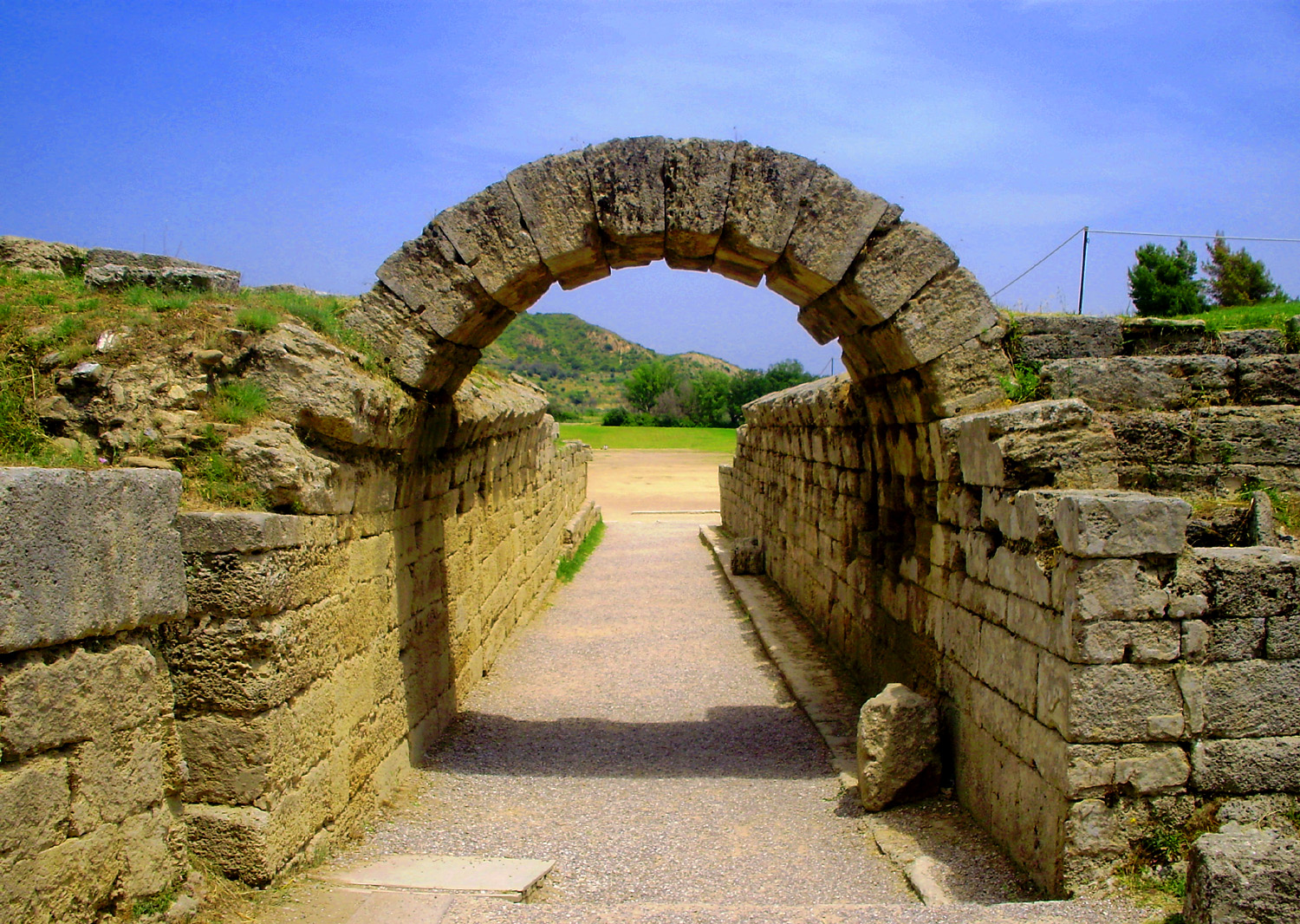 File:The entrance of the stadium in Ancient Olympia, Greece - panoramio.jpg  - Wikimedia Commons