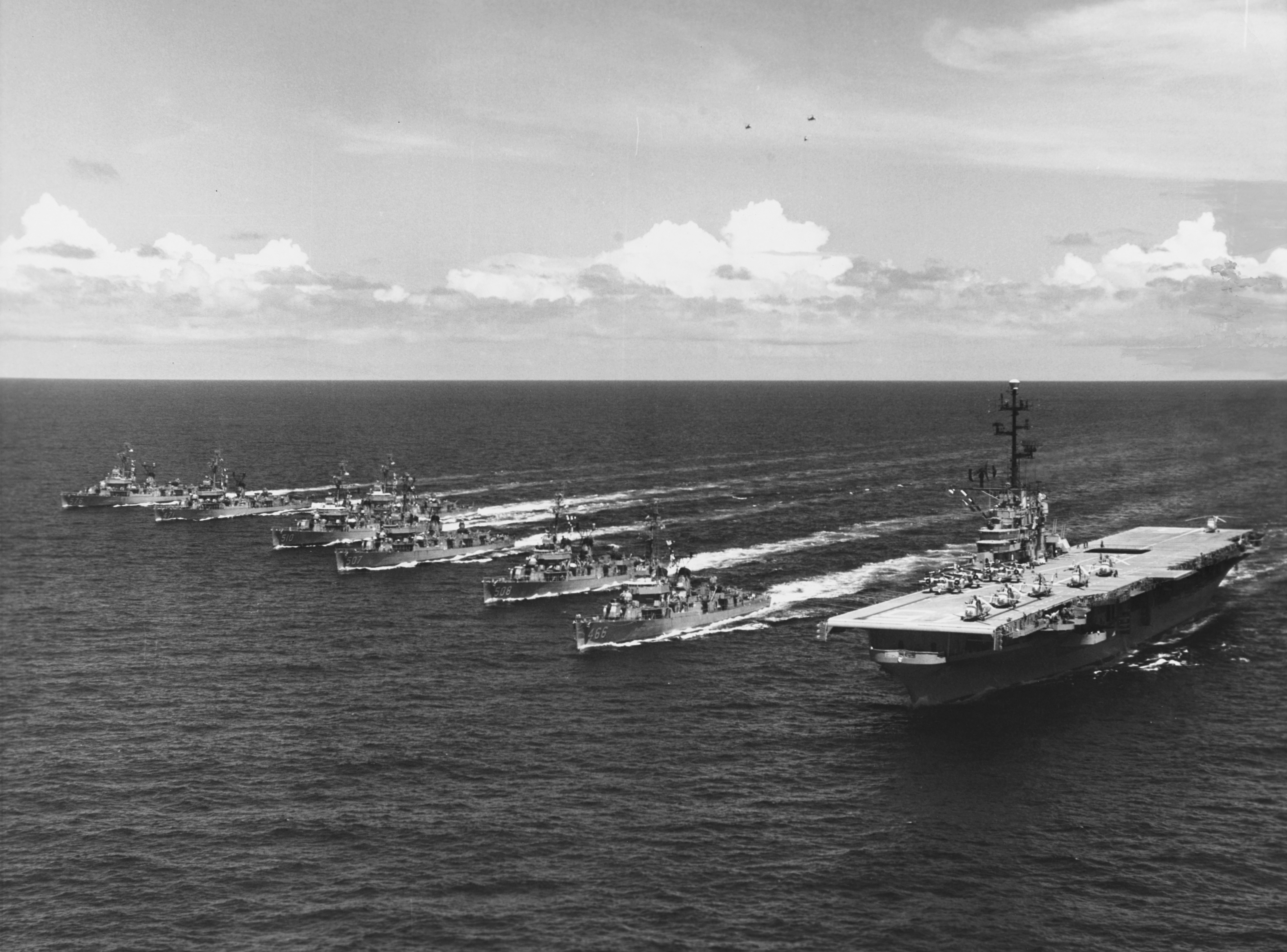file uss valley forge cvs 45 underway with task group alfa in 1959