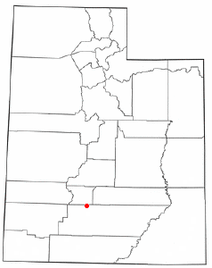 Location of Antimony, Utah