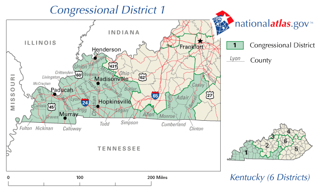 File:United States House of Representatives, Kentucky District 1 map ...