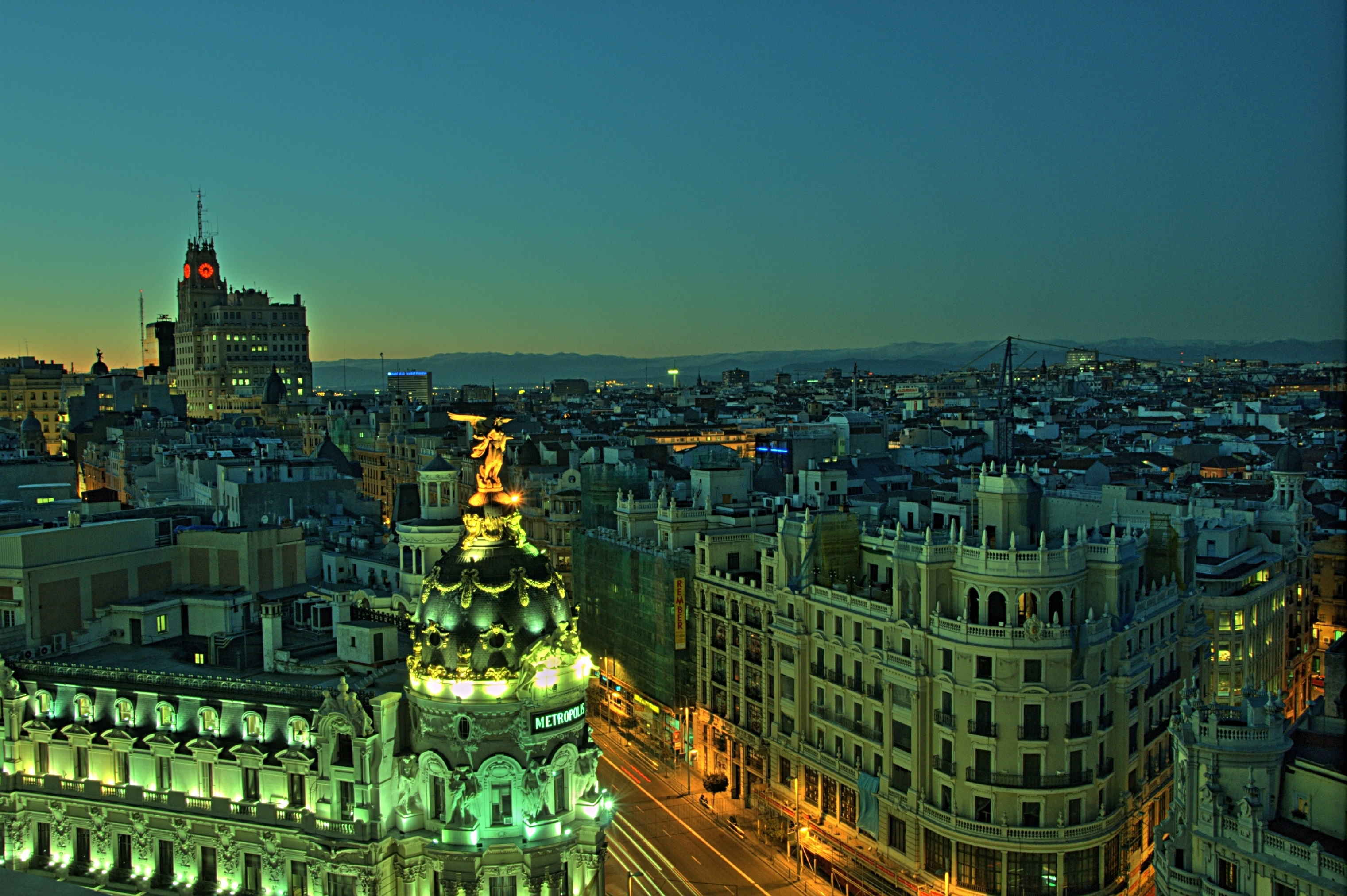 File Vista De Madrid Desde El Círculo De Bellas Artes 02 Jpg