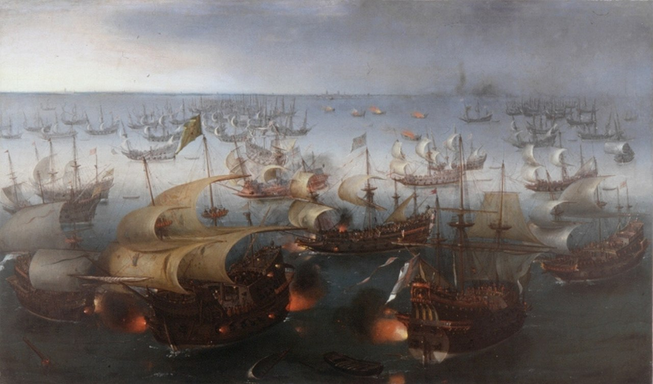 File:Vroom Hendrick Cornelisz Battle between England and Spain 1601.jpg
