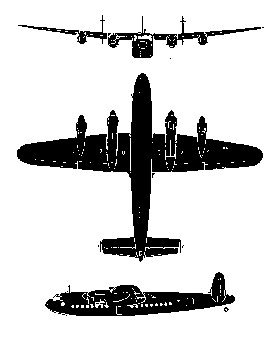 Avro York 3-view drawing from link to reference 2