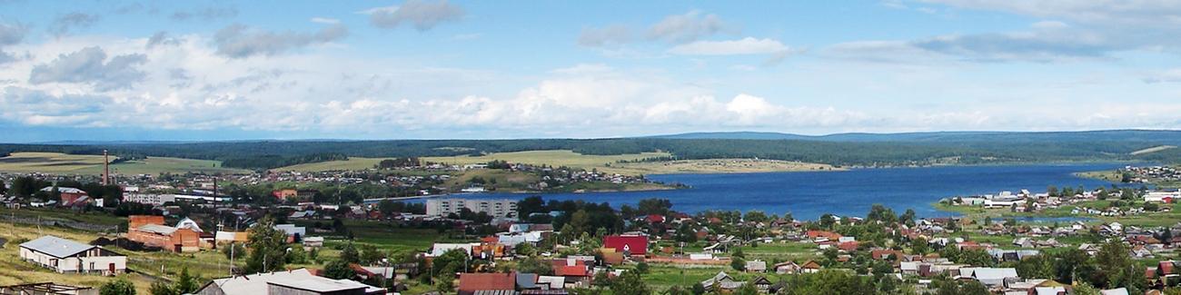 Бисертский завод слева на карте