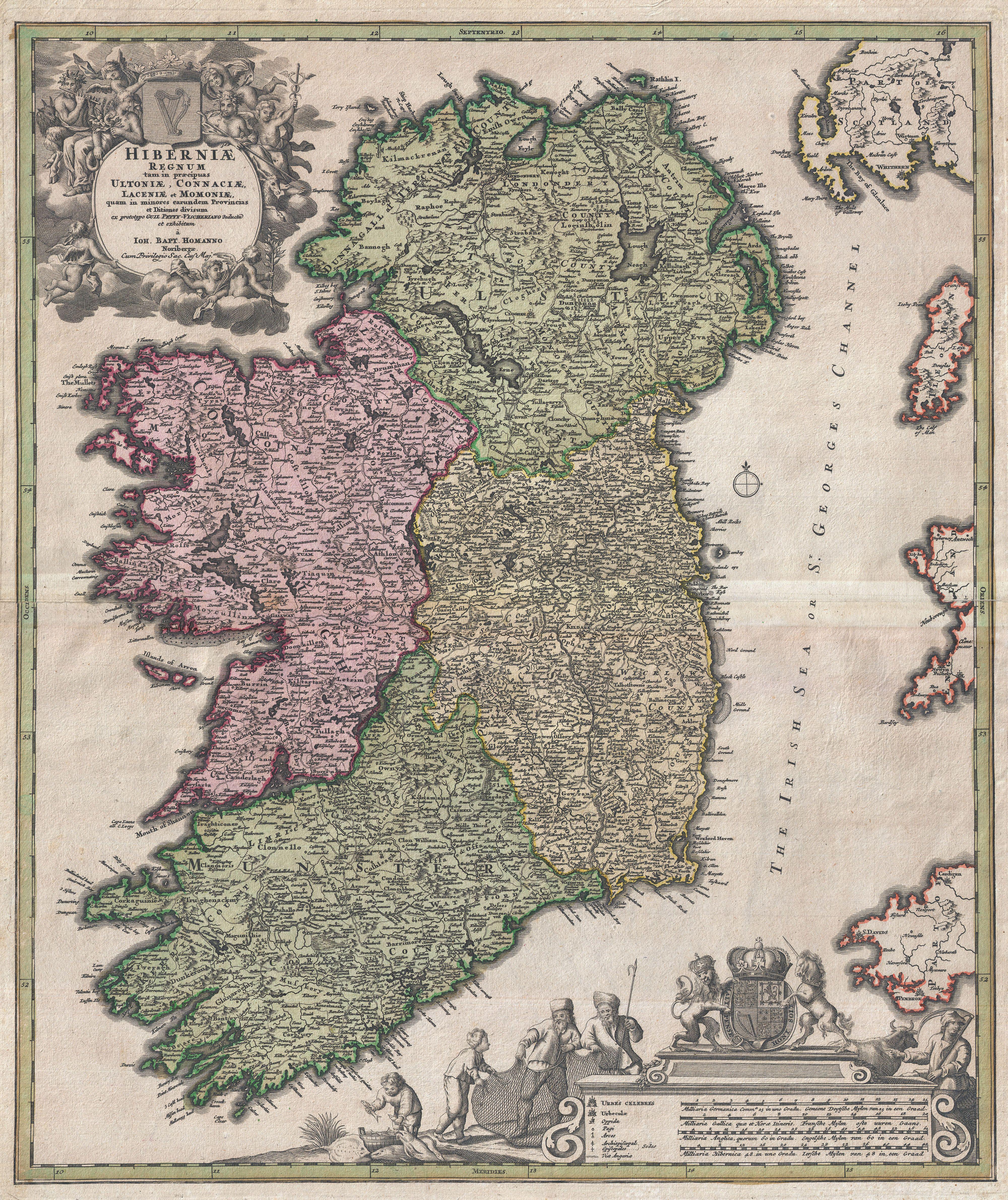 Datei:1716 Homann Map of Ireland - Geographicus - Ireland-homann ...