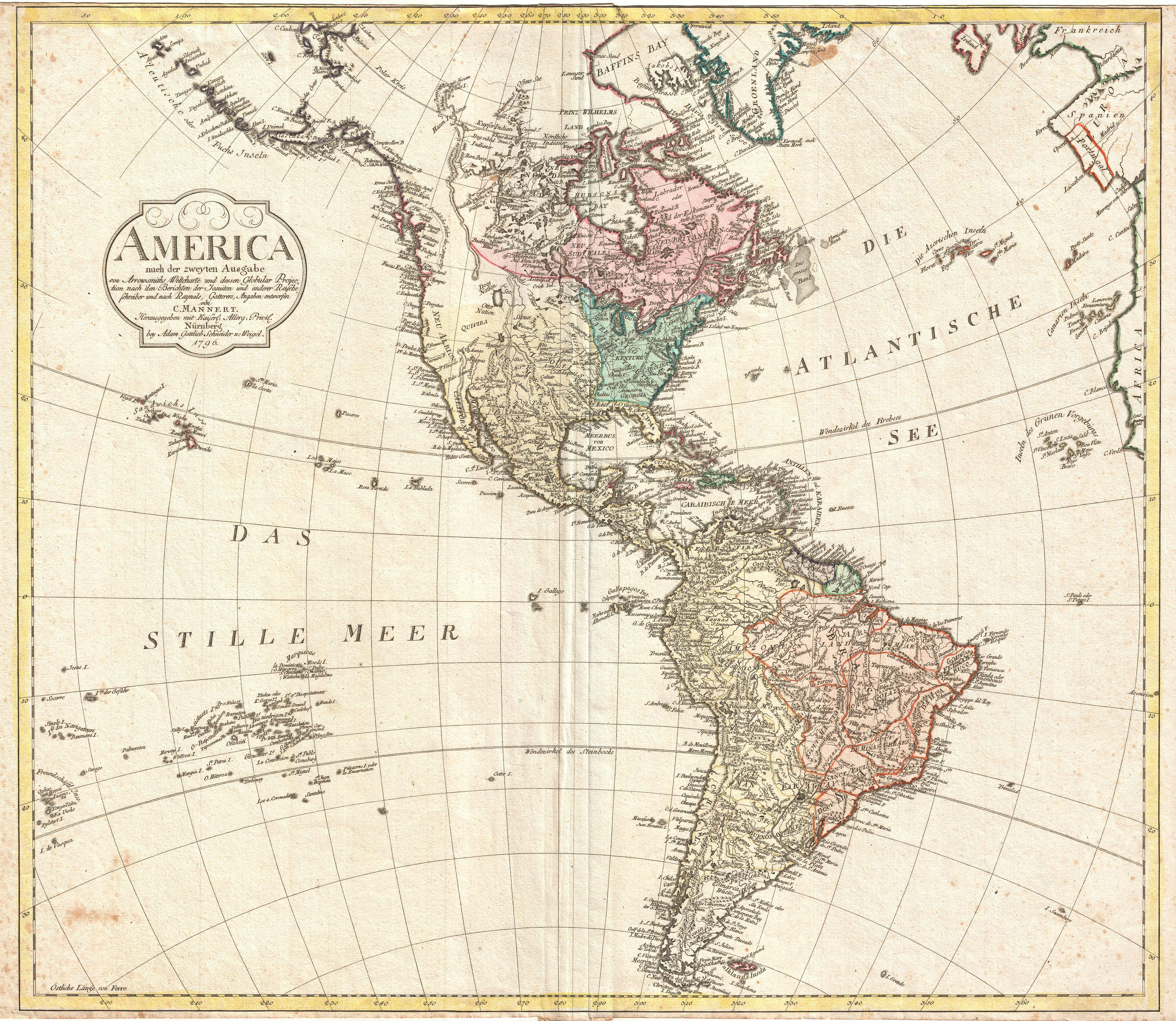 File Mannert Map Of North America And South America - North and south america map