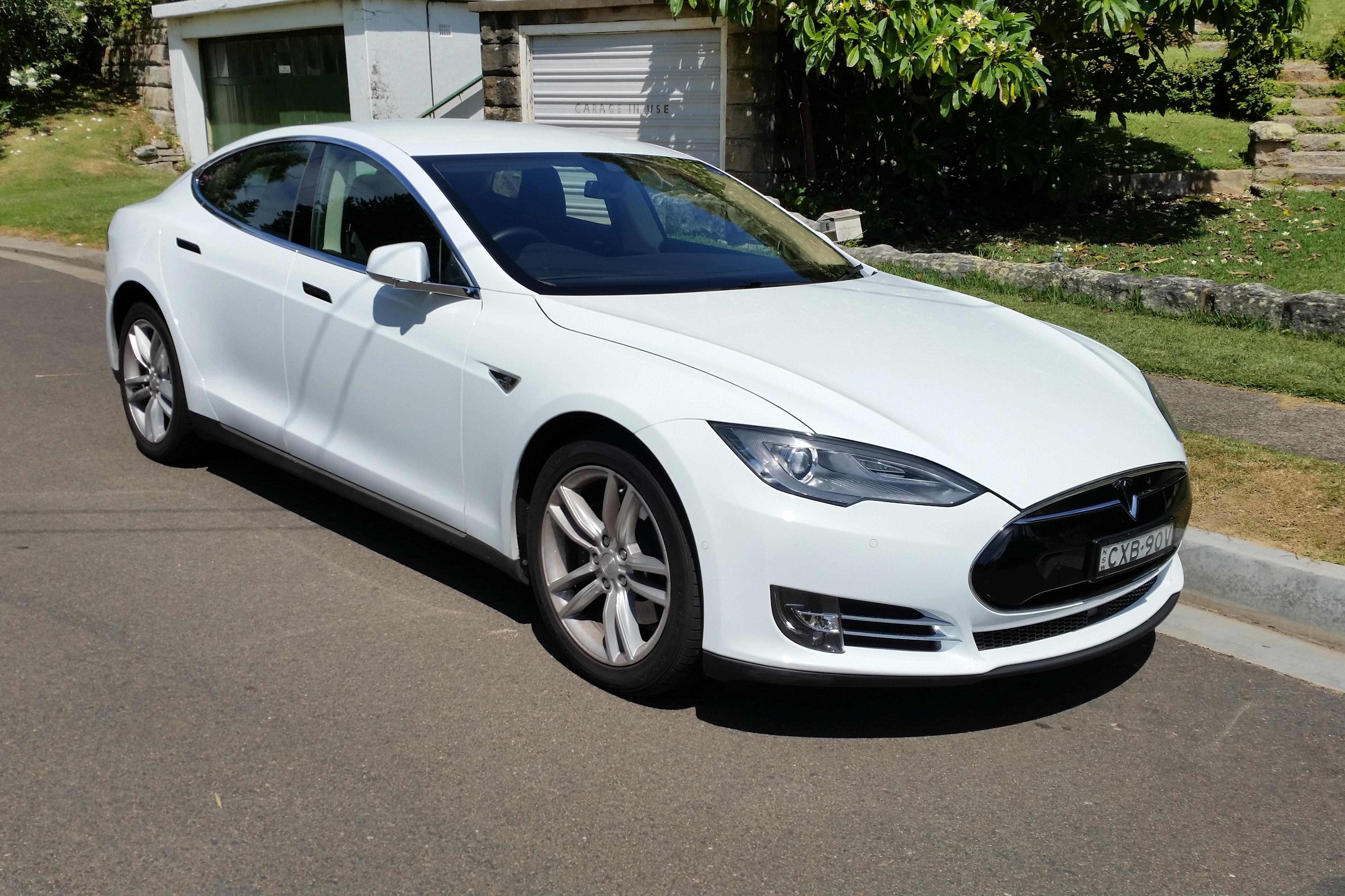 Tesla Model S Battery Electric Car