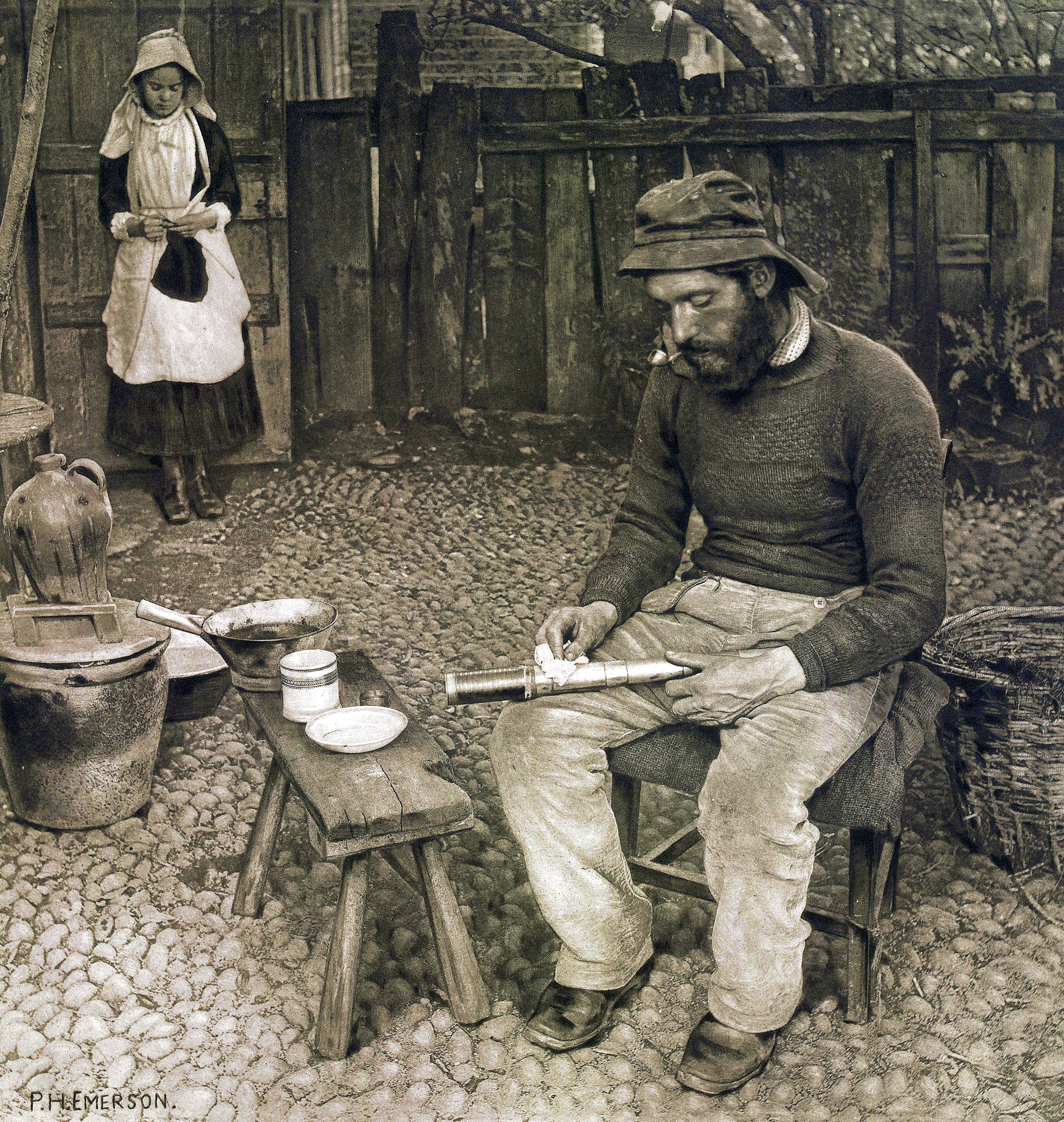 File A Fisherman At Home Peter Henry Emerson 1887 Jpg Wikimedia Commons