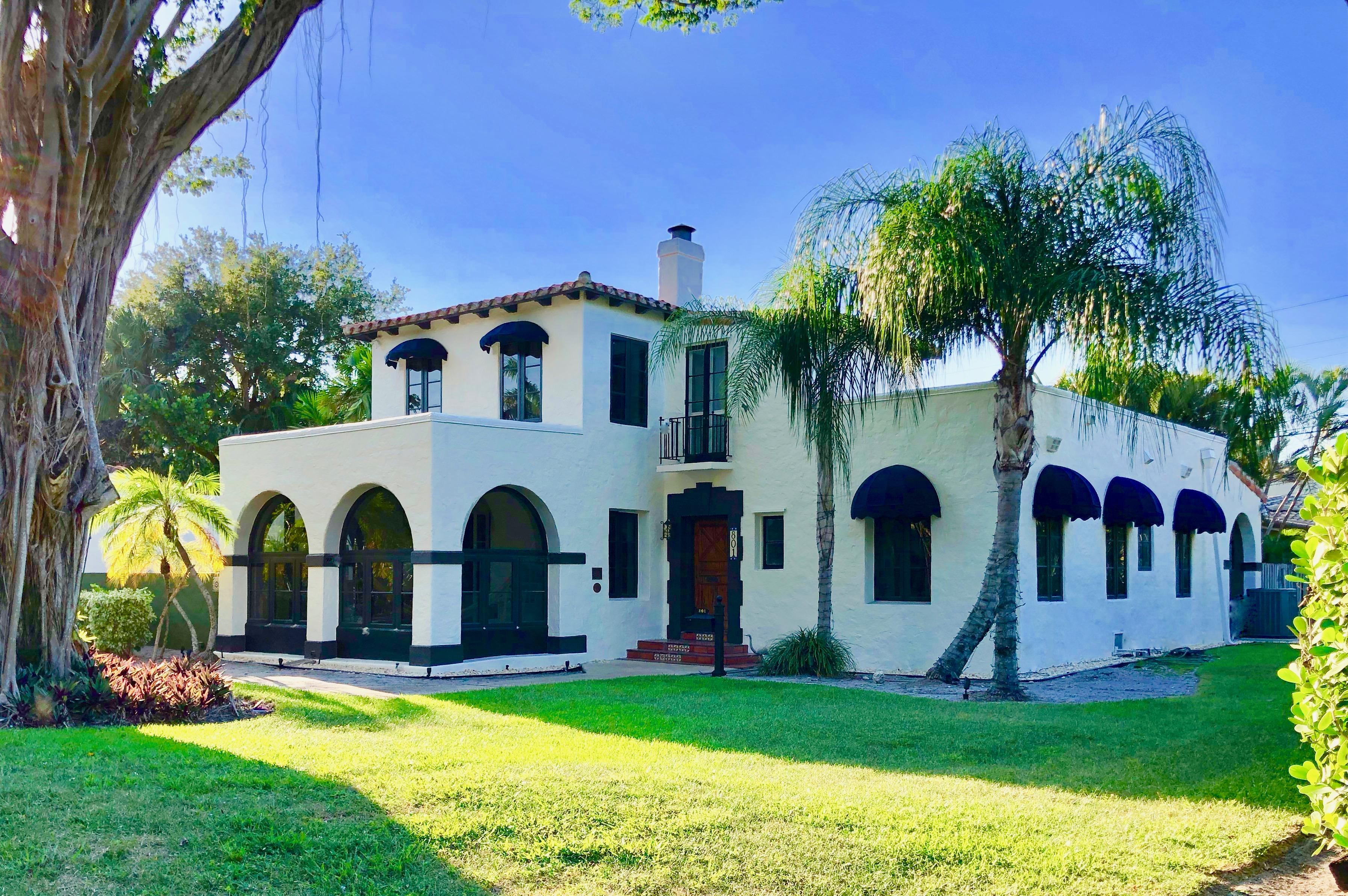 Fred C. Aiken House Mizner Mediterranean Style Architecture