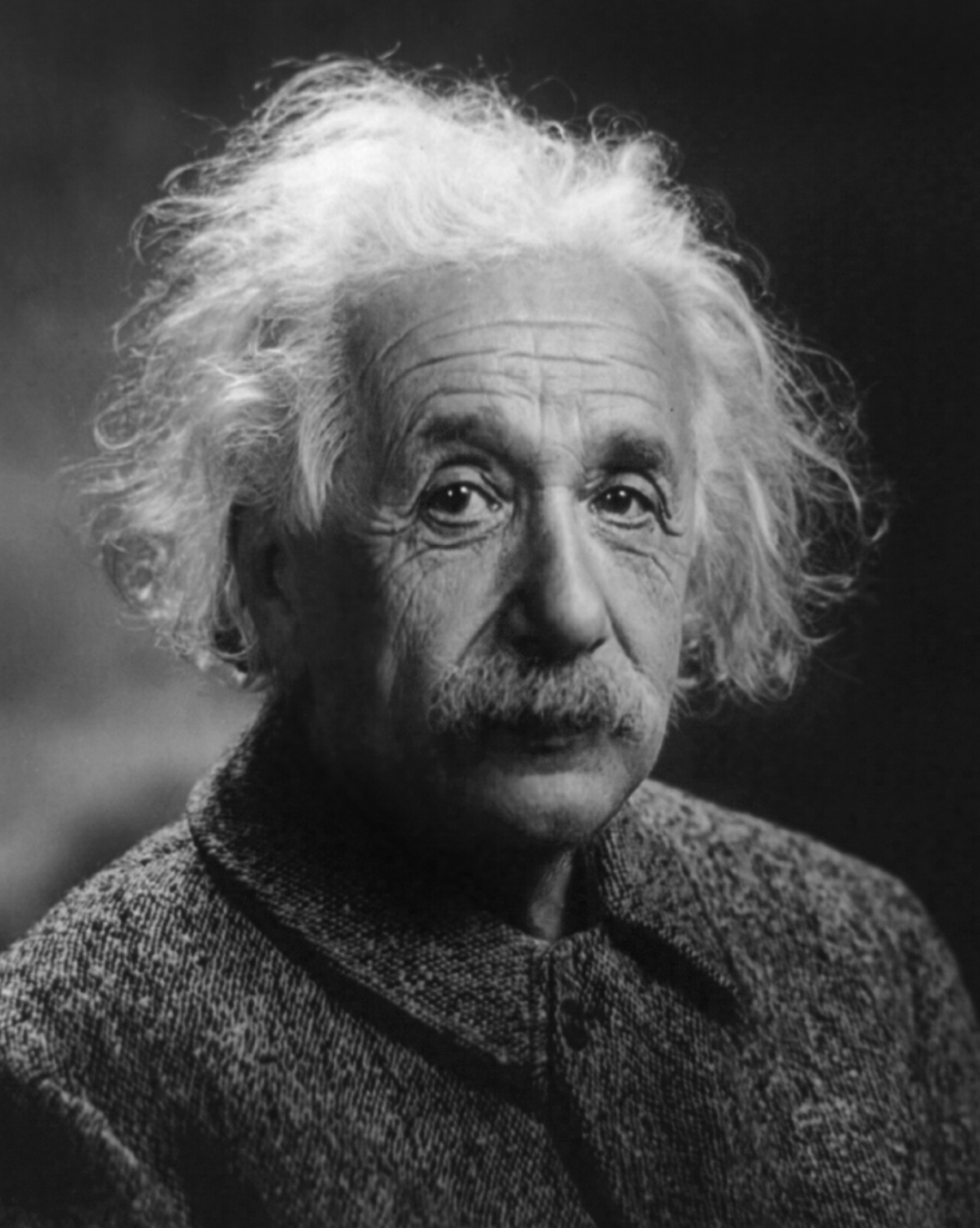 Portrait of Albert Einstein.