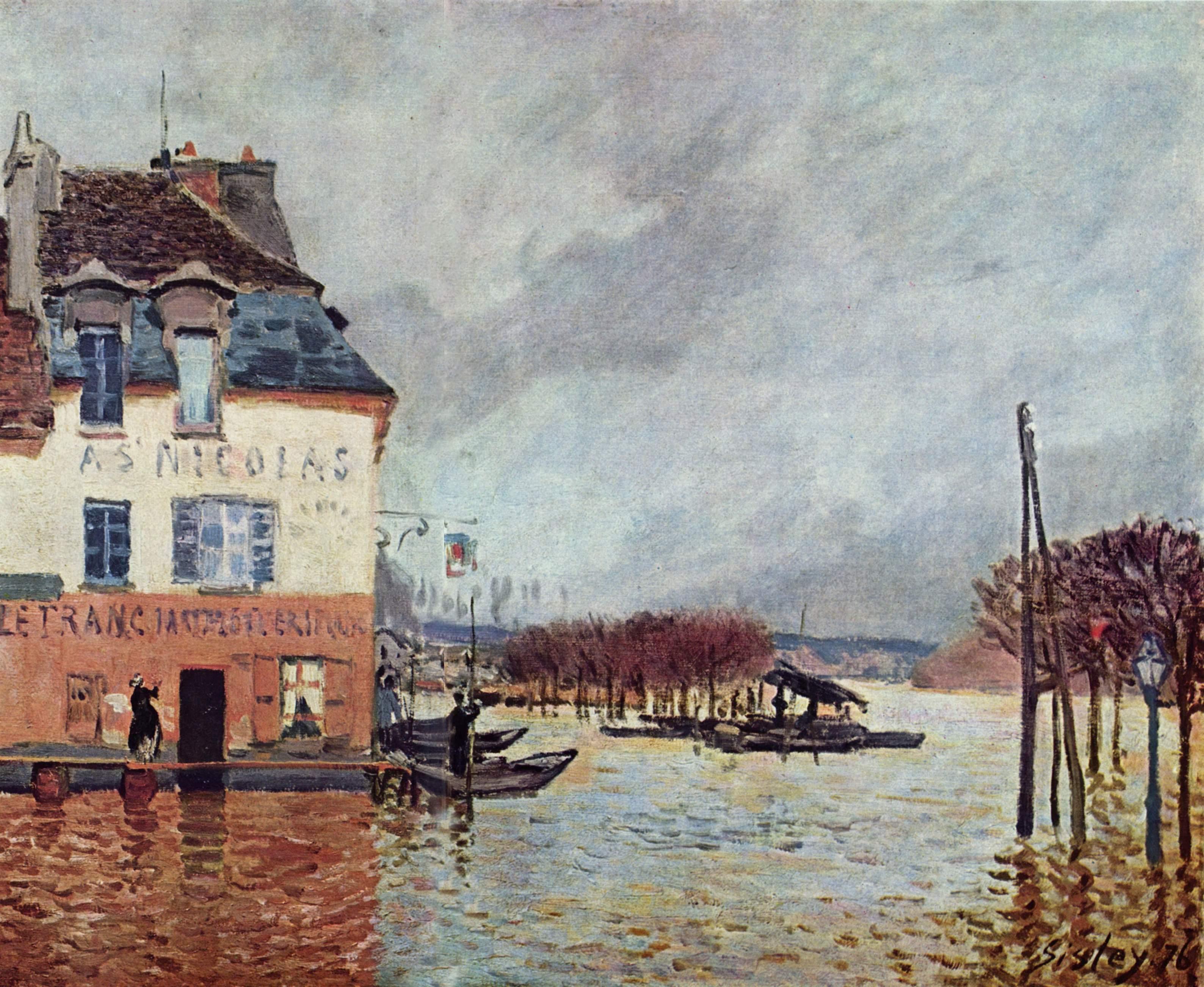 Alfred Sisley 062 - Características básicas de la pintura impresionista