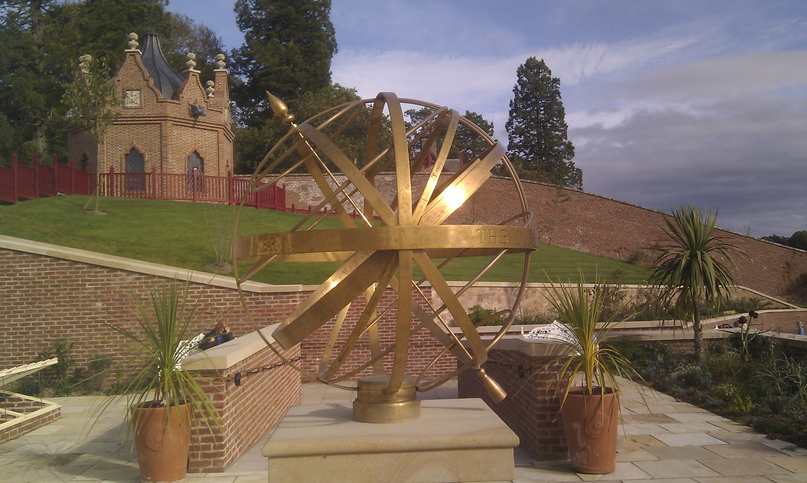 File:Armillary sphere sundial, Queen Elizabeith Garden, Dumfries ...