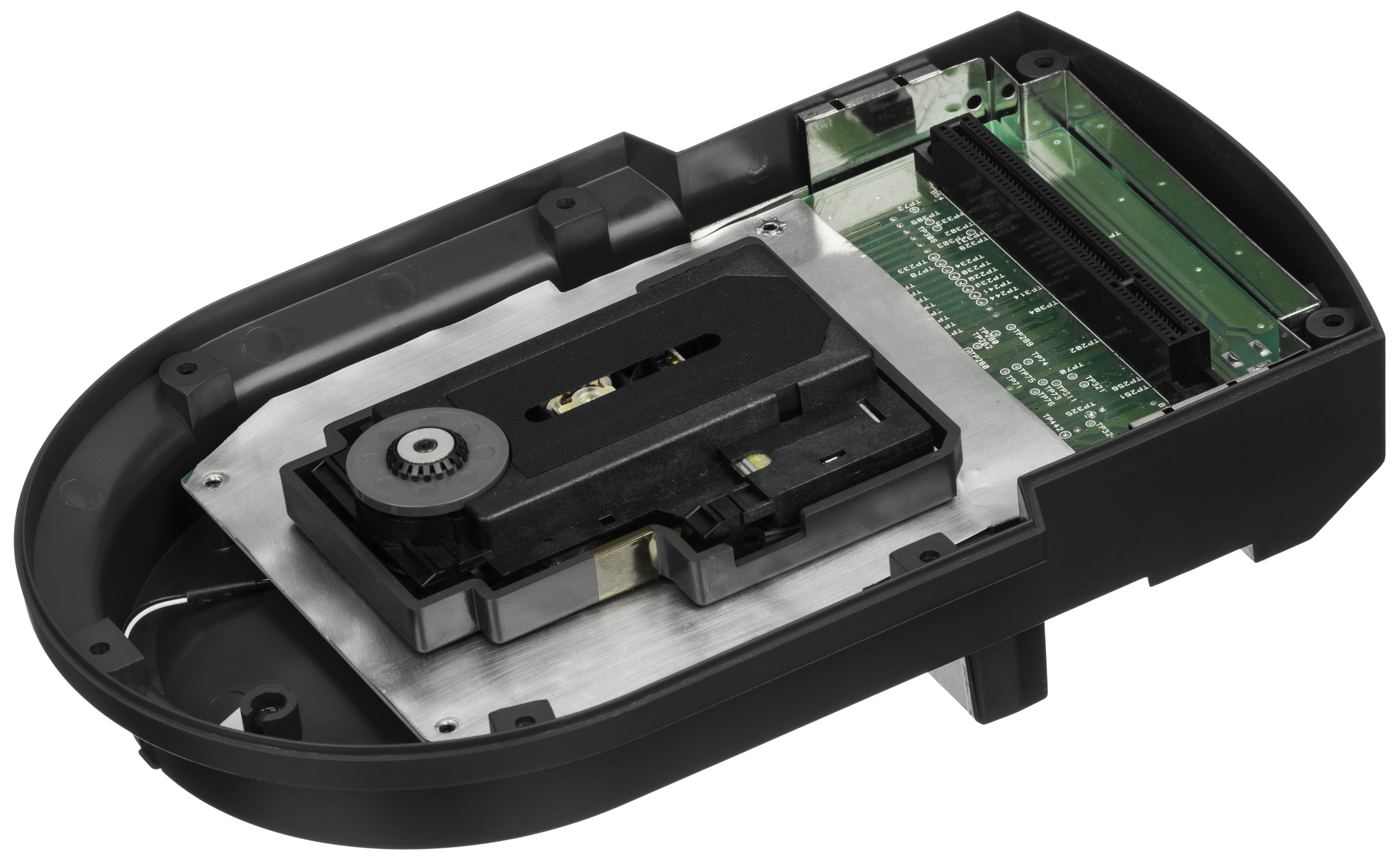 cartridge slot. It has a pass-through slot on the top for games cartridges or an optional Memory Track cart, which would allowed for game saving when