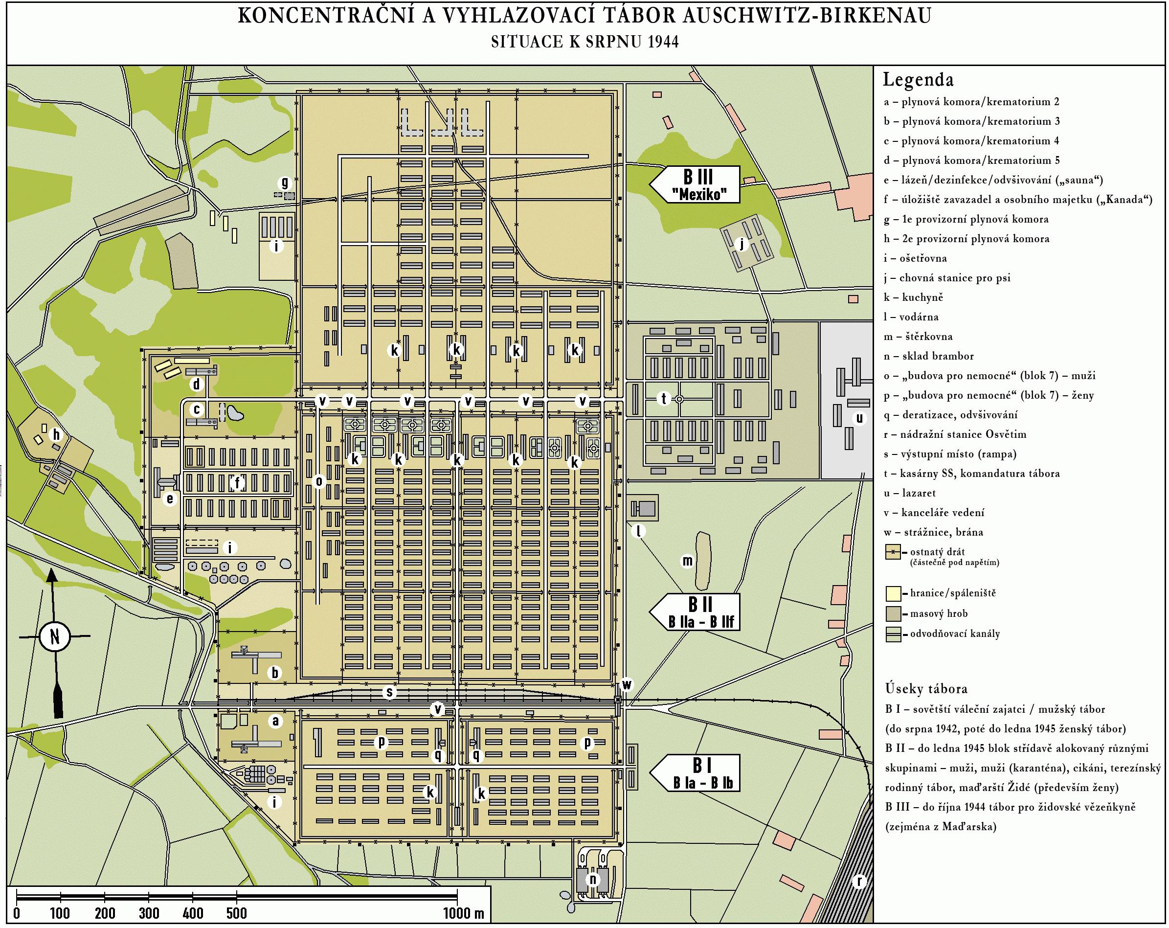 Auschwitz Birkenau Map File:Auschwitz Birkenau map 1944 CZ.png   Wikimedia Commons