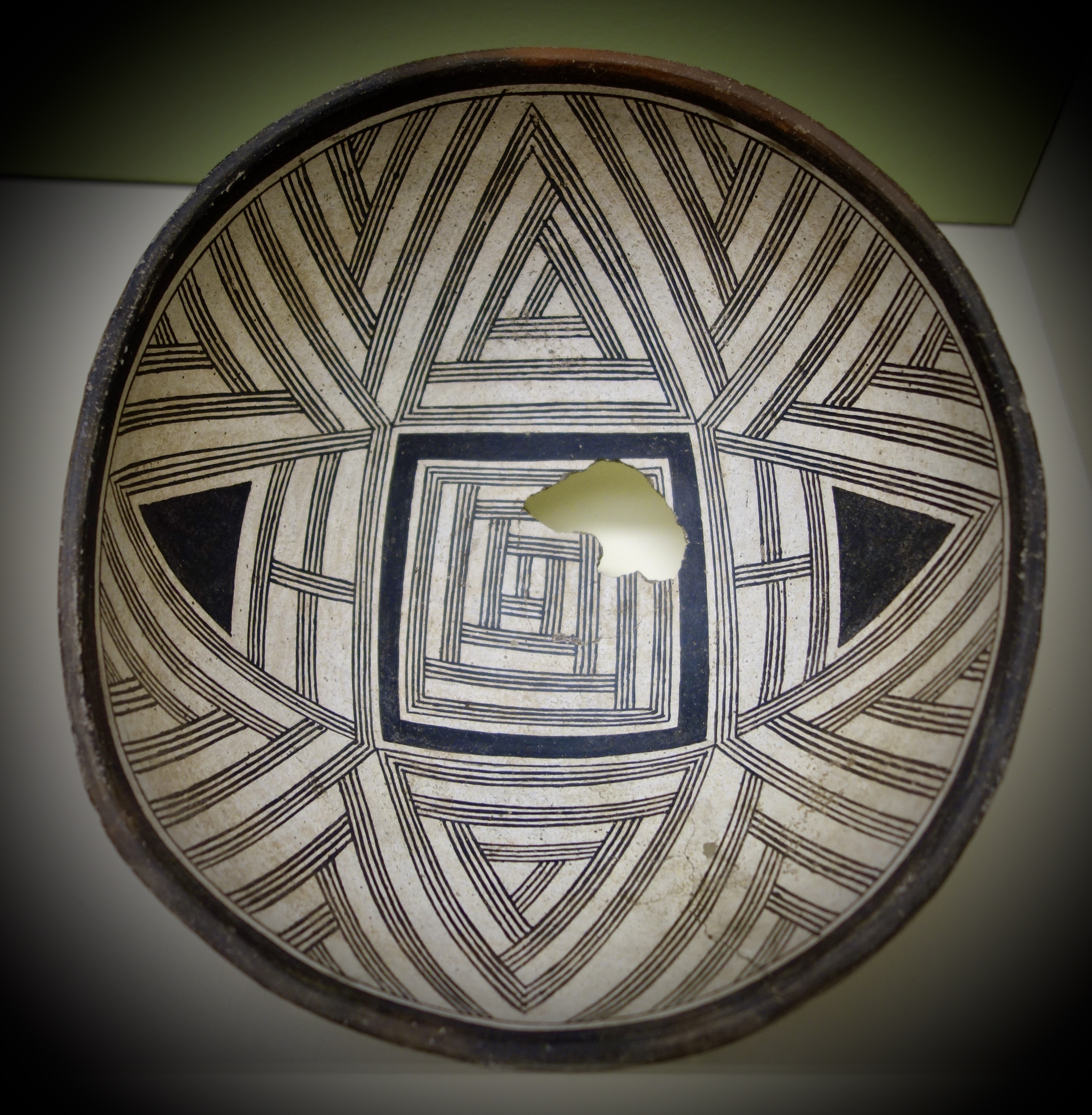 File Bowl With Geometric Design Swarts Ranch Ruin