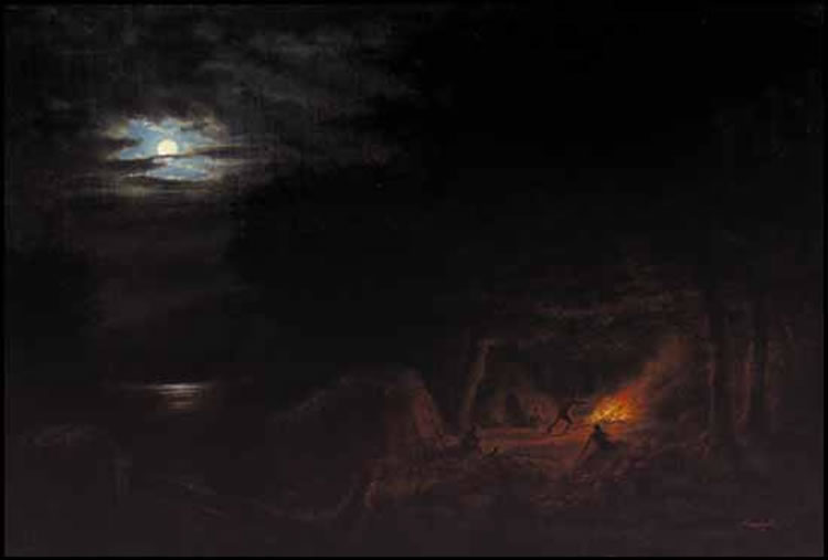 easy night scene paintings - photo #33