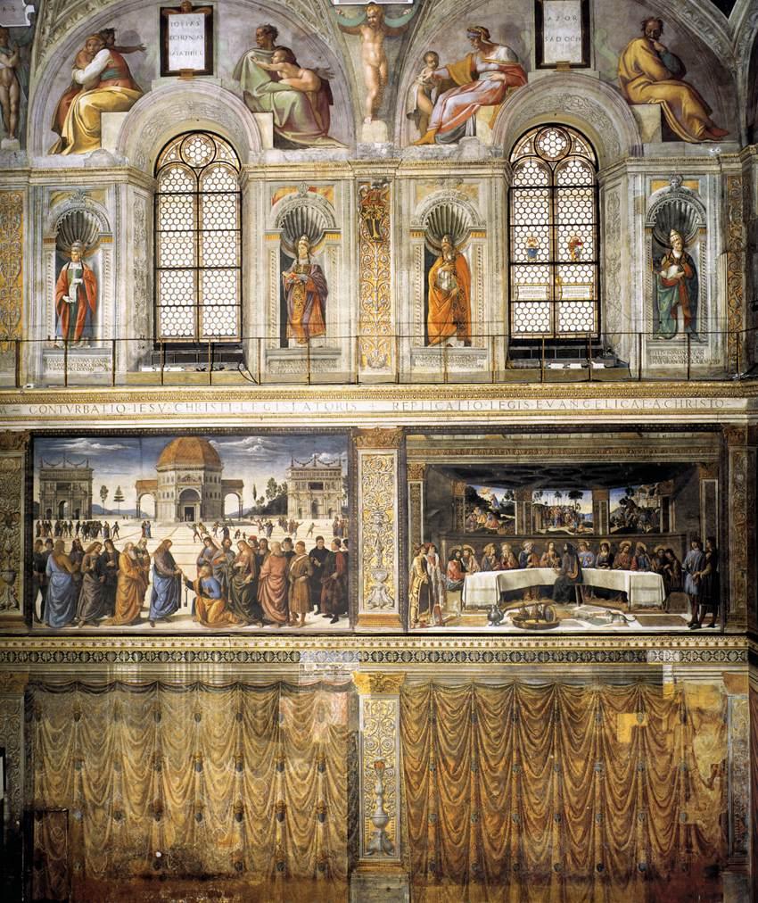 Lunette della cappella sistina wikipedia for Decorazione quattrocentesca della cappella sistina