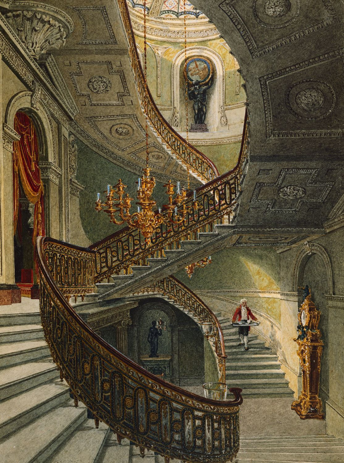 File Carlton House Grand Staircase By Charles Wild 1819