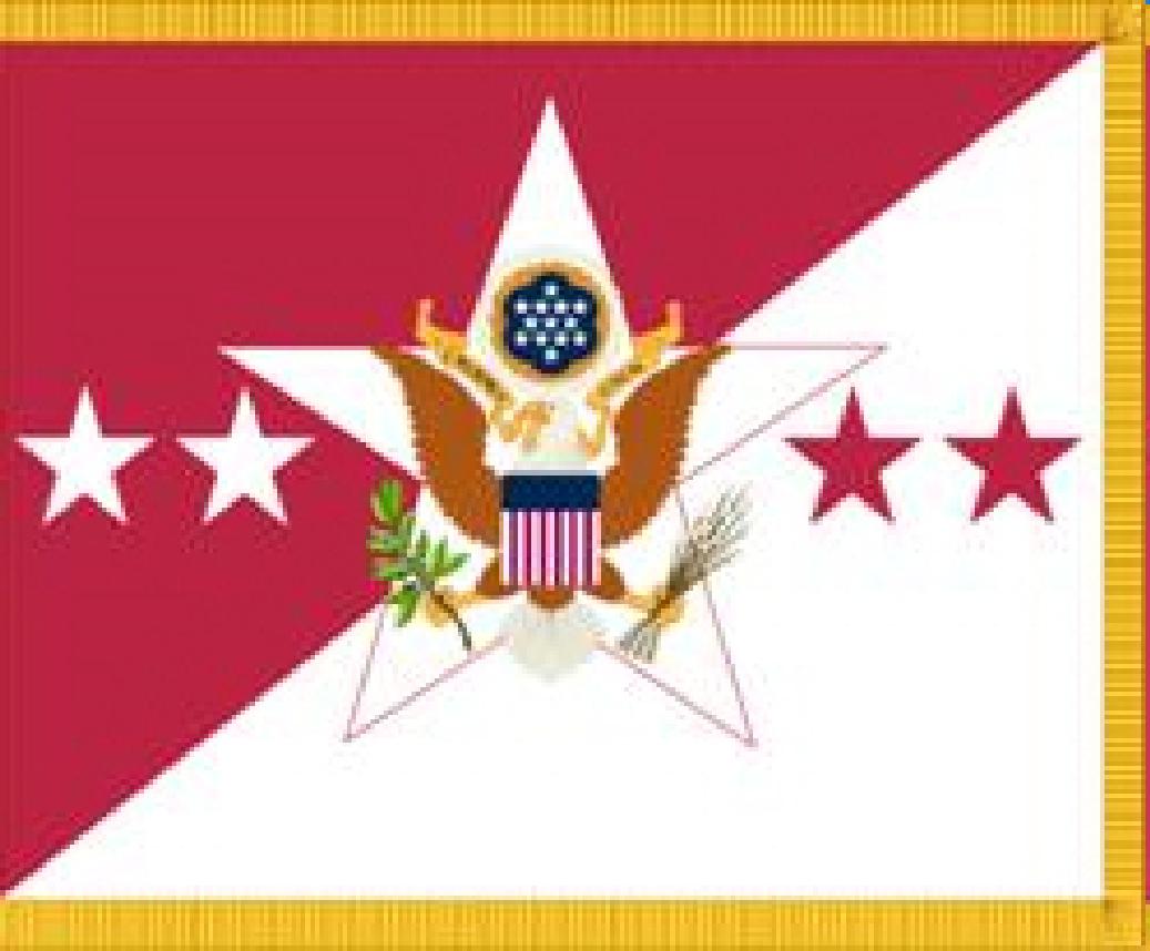 Description chief of staff, u.s. army flag