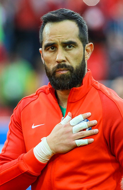 The 35-year old son of father (?) and mother(?) Claudio Bravo in 2018 photo. Claudio Bravo earned a  million dollar salary - leaving the net worth at 7.2 million in 2018