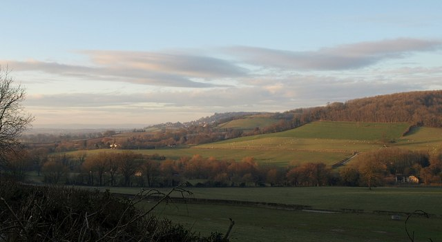 Cotswold scarp at Wortley - geograph.org.uk - 1650842