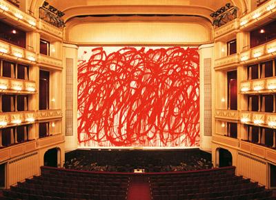 'Bacchus' von Cy Twombly, Eiserner Vorhang in der Wiener Staatsoper, Saison 2010/2011
