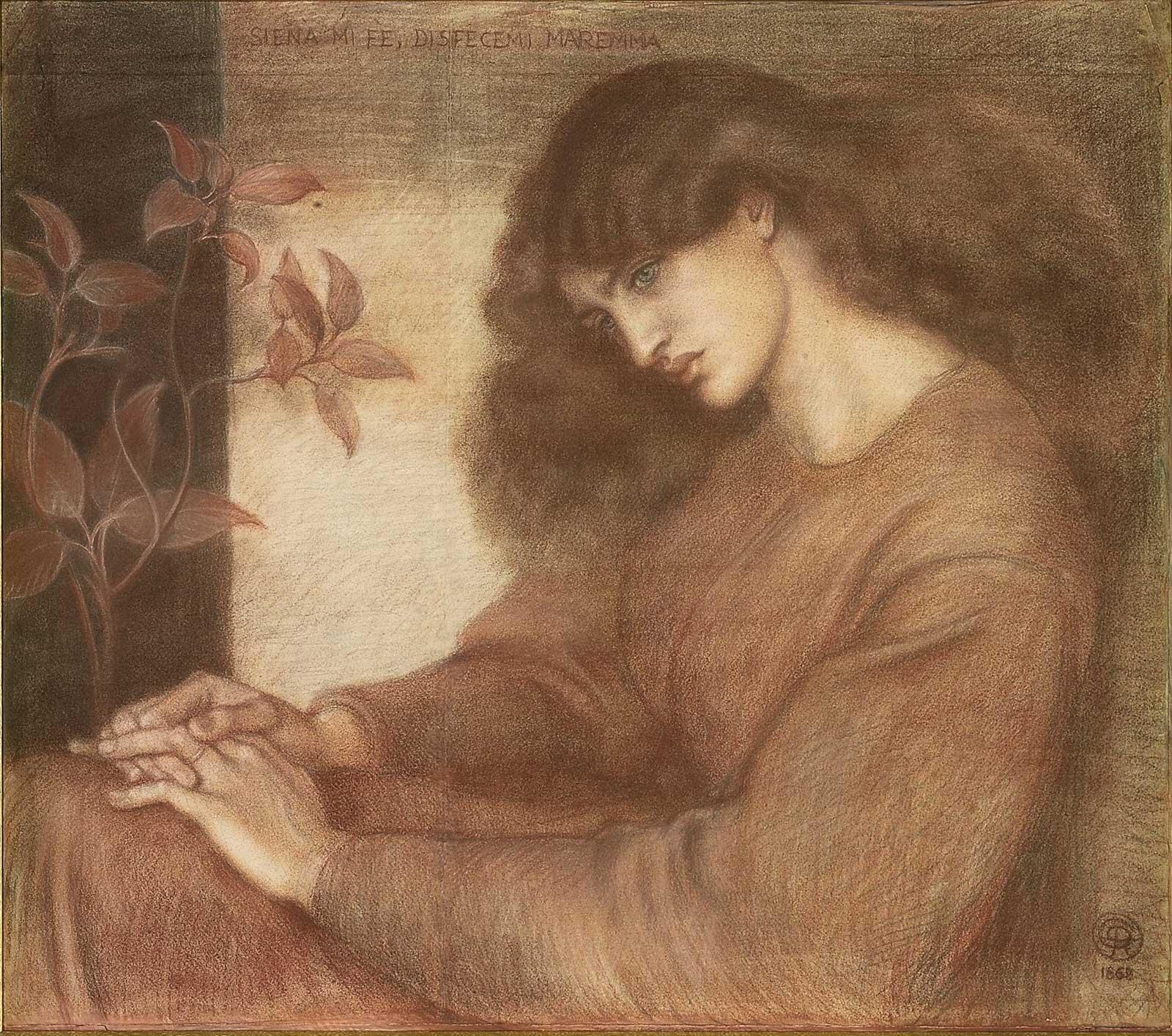 Dante Gabriel Rossetti - La Pia de' Tolomei (chalks 1).jpg