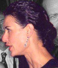 Demi Moore in profile at the 1997 Emmy Awards,...