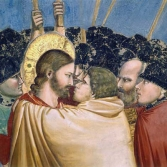 Detail of Jesus and Judas by Giotto