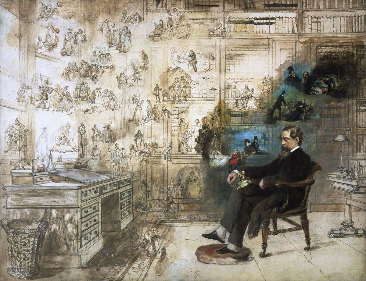 "Dickens's Dream."" Painted 1875. Donated by the artist's grandson - 1931."""