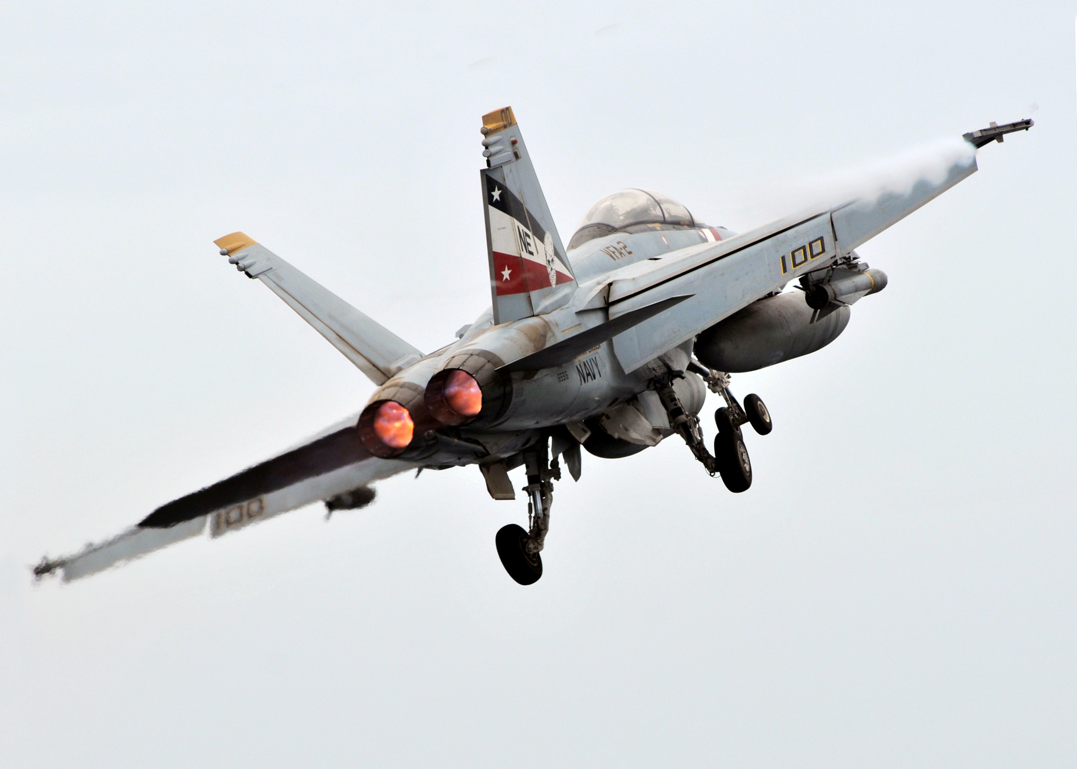 File F 18f After Launch From Uss Abraham Lincoln Cvn 72