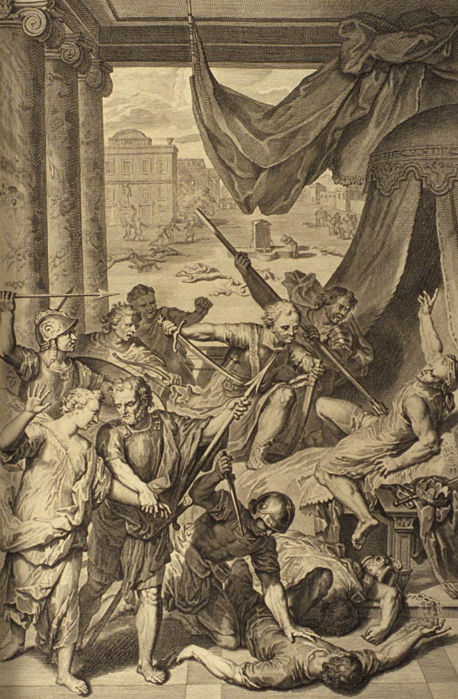 "Gerard Hoet: ""Simeon and Levi slay the people of Shechem"""