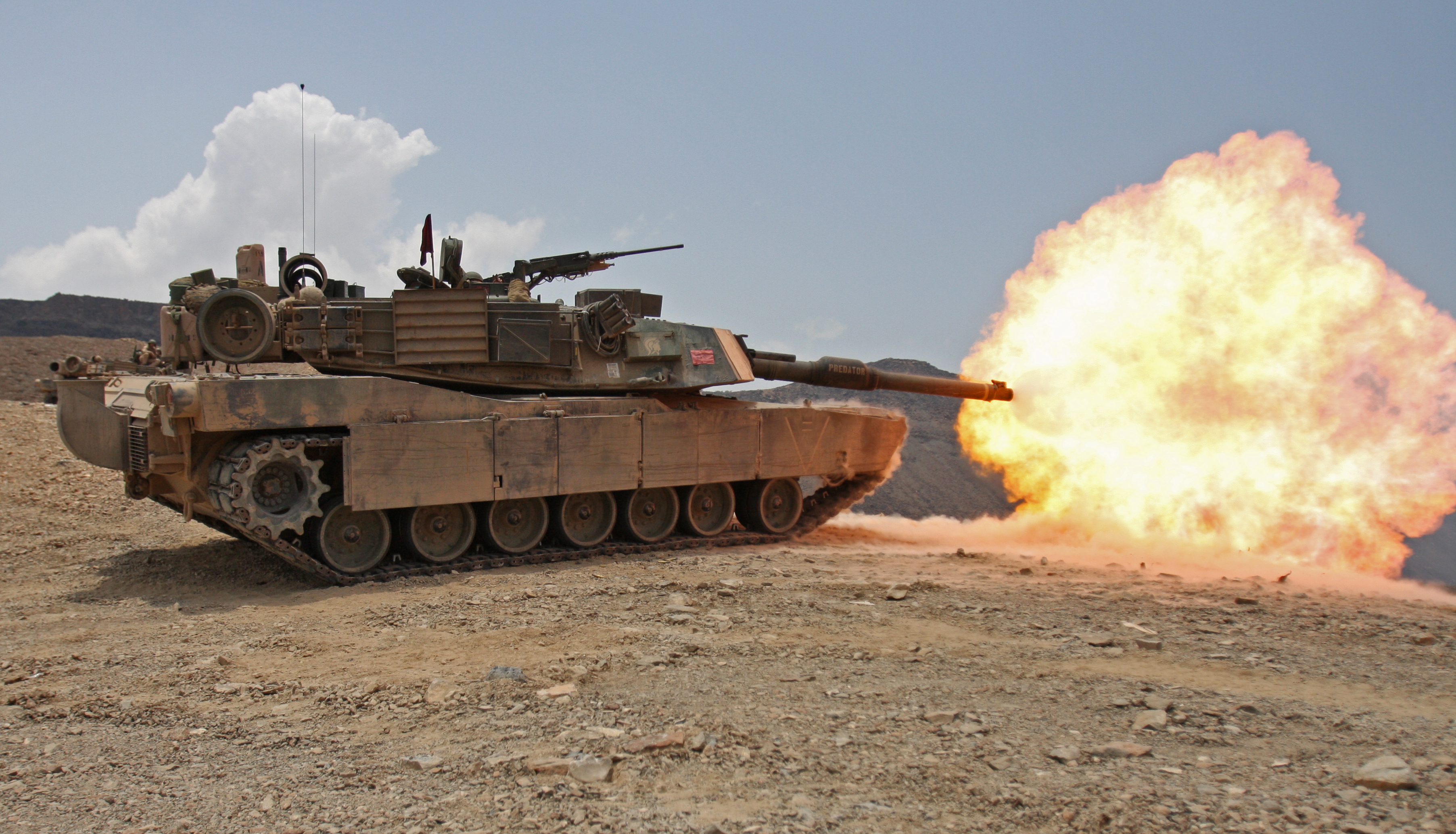 Description firing m1a1 tank in djibouti