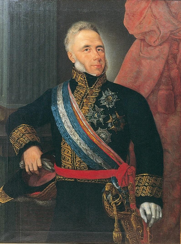 Portrait of General Espoz y Mina by José Vallespin.