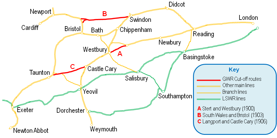 south western main line map File Gwr Main Line Cut Off Routes Png Wikimedia Commons south western main line map