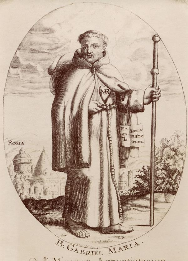 P. Gabriel Maria gikk til fots til Roma for å oppnå godkjennelse av annunciatinnenes regel