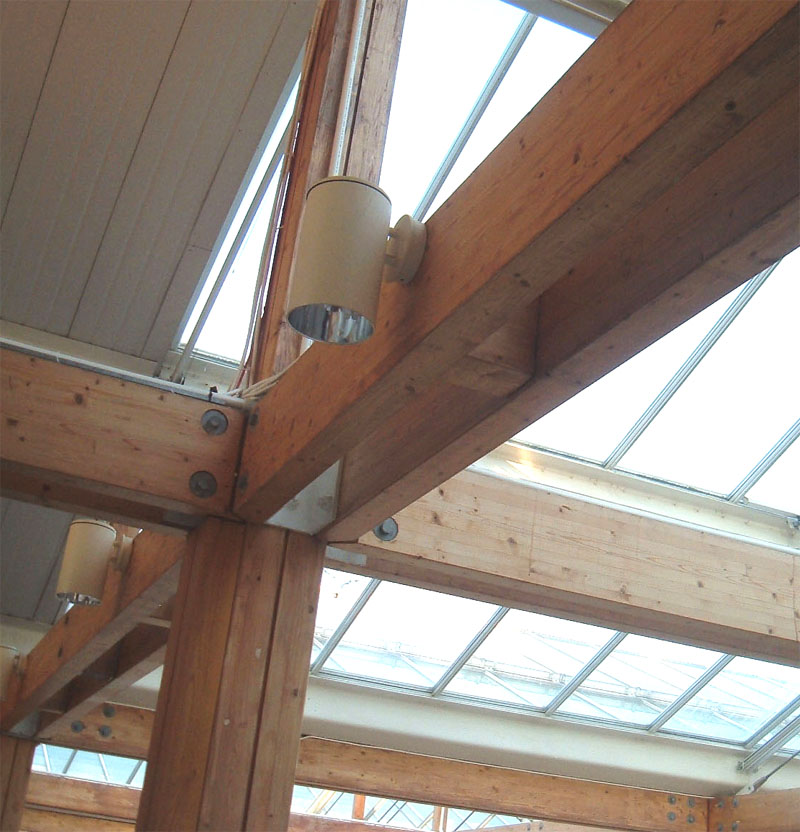 Glulam Frame Of A Roof Structure