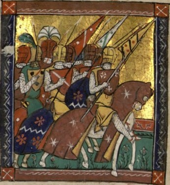 Godefroi of Bouillon leads the army