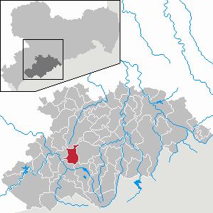 Grünhain-Beierfeld Place in Saxony, Germany